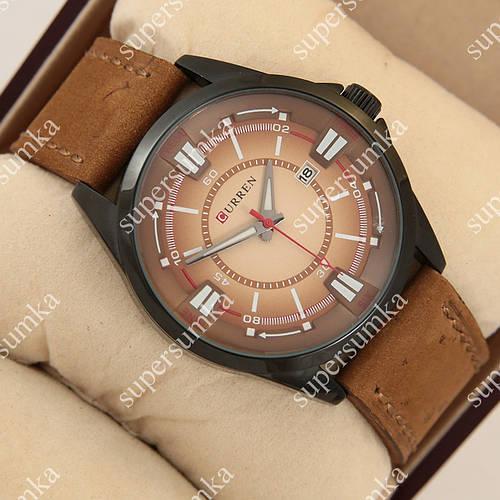 Практичные наручные часы Curren Gradient 8155 Black\Brown 1008-0015