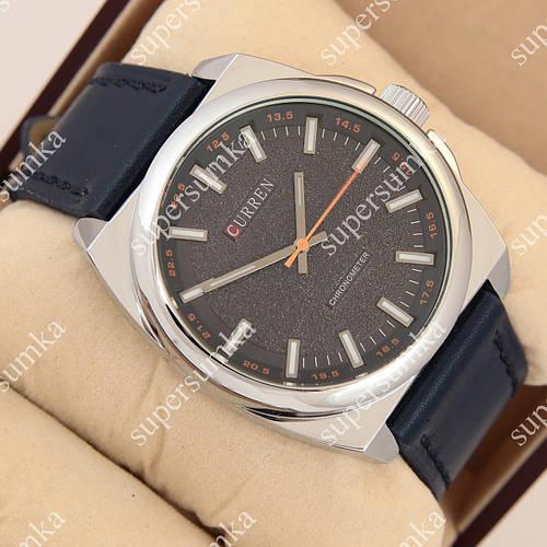 Стильные наручные часы Curren Classico 8168 Silver\Blue 1008-0019