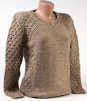 Пуловер женский шерстяной 6019 кофейный р.46 (M)