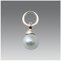 Колечко с подвеской (жемчужина серебряная) для нейл-пирсинга Lady Victory LDV DK-02 /05-0