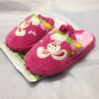 Детские розовые тапочки на резиночке, для девочки