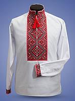 Современная рубашка для мужчин с национальной вышивкой