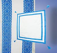 Вышитая синяя крыжма для крещения