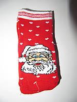 Новогодние носки детские , зимние, махровые внутри, хлопок турция размер 2-4года
