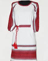 Модное современное вышитое платье