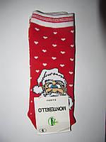 Новогодние носки детские , зимние, махровые внутри, хлопок турция размер 6-10лет