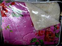 Одеяло из овечьей шерсти Лери Макс полуторное на малиновом розы