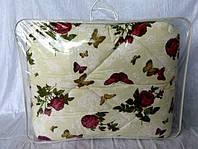Одеяло из овечьей шерсти полуторное Лери-Макс Gold красивые бабочки