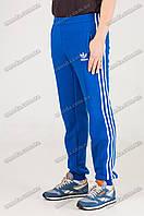 Спортивные штаны тёплые с лампасами синие