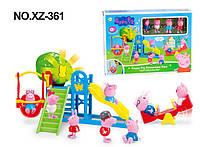 Игровой набор Peppa Pig - Детская площадка для Пеппы и друзей с фигурками героев.