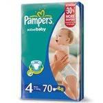 Подгузники Памперс Act. baby Midi (7-14 кг) Джамбо 70 штук