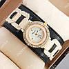 Стильные наручные часы Chopard Milk/Gold 4502