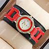 Модные наручные часы Chopard Red/Gold 4504