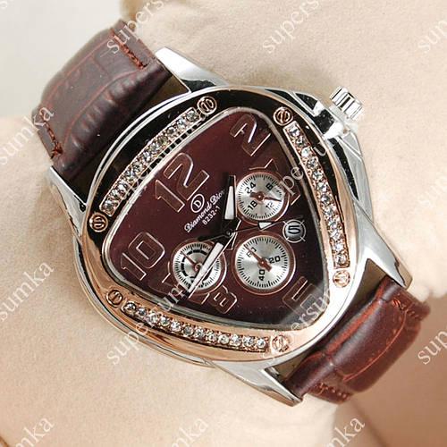 Классические наручные часы Diamond Dior Silver/Brown 3102