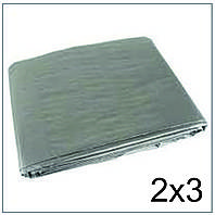 Тент 2*3 м., готовые размеры в ассортименте, плотный 120 г/м2 серебряный с УФ-защитой