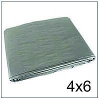 Тент 4*6 м., готовые размеры в ассортименте, плотный 120 г/м2 серебряный с УФ-защитой