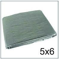 Тент 5*6 м., готовые размеры в ассортименте, плотный 120 г/м2 серебряный с УФ-защитой