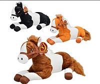 Мягкая игрушка Лошадь MP 0631 F звук, 3 цвета, 35см