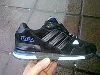 Зимние кроссовки Adidas ZX750 на меху черные