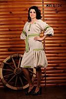 Вышитое женское платье, размер 52