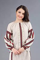 Женская вышитая блуза из льна, размер 48