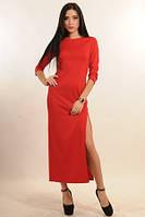 Элегантное платье красное  макси Демисезон