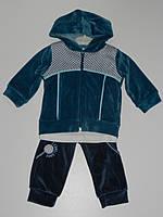 Велюровый костюм на мальчика тройка рр. 62, 68, 74 Турция