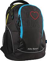Рюкзак школьный подростковый ортопедический Kite Sport K15-816-4L в патриотическом стиле