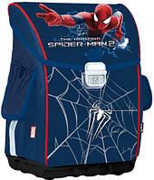 Рюкзак каркасный ортопедический для школьников младших классов Spider-Man SM14-503K Kite синий
