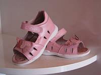 Детские сандалии B&G розовые для девочки с супинатором кожаные  р-р 21