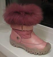 Зимние ботинки девочке на цигейке Bartek Бартек р.р 23
