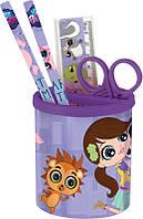Набор  настольный канцтоваров для школьника Pet Shop PS15-205K набор подарочный,подстаканник