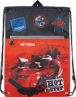 Сумка для сменной обуви спортивной  формы с доп. карманом Kite Hot Wheels HW15-601-2K