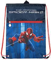 Сумка для сменной обуви спортивной  формы с доп. карманом Kite Spider Man SM15-601-1K