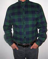 Деловая теплая  мужская рубашка  в клетку