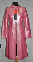 Френч-кожаный розовый длина-112см 46р;ОГ-92;ОБ-94