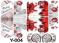Слайдер дизайн (водная наклейка) для ногтей Y-004