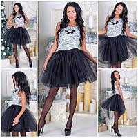 Шикарное платье верх дорогой гипюр низ 4 слоя фатина