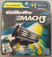 Кассета Mach 3 5+1 касета Fusion proglide power