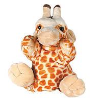 Игрушка мягкая Рукавичка жираф 27 см