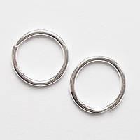 Маленькие серьги кольца (диаметр 10мм). Серебро 925.