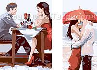 Картина по номерам 2в1 (Диптих) Первое свидание, 40х50см. (КН2617)