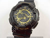 Детские часы Casio Baby G BGA-13018 1543 (013573) темный дисплей черные с золотом водонепроницаемые