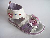 Детские нарядные босоножки для девочки, стелька кожаная с супинатором (21-26)