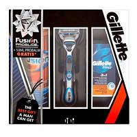 Gillette Fusion Proglide Power (станок для бритья + гель 200 мл + бальзам после бритья 50 мл) НАБОР