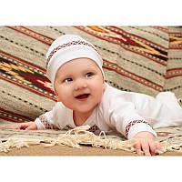"""Детская шапочка """"Орнамент"""" (""""Я Украинец"""") для новорожденных"""