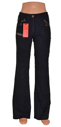 Черные брюки под вельвет (арт. W3792), фото 2