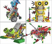 Электронный конструктор robot/робот 4 вида: двигается благодаря моторчику