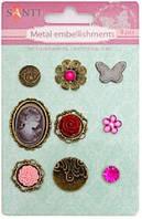 П Набор украшений 952588 брадсы розовые