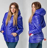 Куртка зимняя модель ПОБ  018 , плащевка на синтепоне + искусственная овчина(пояс в комплекте)